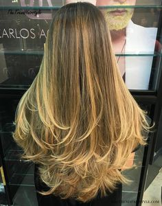 Long layered hair with blonde balayage no layers haircut, hair styles Long Fine Hair, Very Long Hair, Long Hair Cuts, Short Hair, Mom Hairstyles, Pretty Hairstyles, Hairdos, Girl Haircuts, African Hairstyles