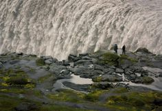 Dettifoss is located in northeastern Iceland within the glacial river Jökulsa. The river emerges from beneath the Vatnajökull. The grayish white color of the water is due to the sediment-rich meltwater from the glacier.