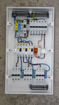 How Much Does Rewiring a House Cost Electrical Panel Wiring, Electrical Circuit Diagram, Electrical Plan, Electrical Switches, Electrical Projects, Electrical Installation, Electronics Projects, Electrical Engineering, Solar Panel Battery