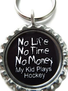HOCKEY MOM Backpack Charm Zipper Pull Keychain Party by AllSports, $2.50