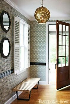 that light...that wallpaper....that door