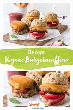 Glutenfreie, vegane Burger - ein Rezept von freiknuspern. #burger #vegan #simplyv Burger Co, Hamburger, Bread, Diet, Breakfast, Grill, Ketchup, Ms, Food