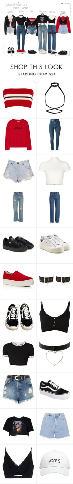 """Lunar (루나) Fan Meet : Tokyo"" by lunar-official ❤ liked on Polyvore featuring Etienne Deroeux, Zana Bayne, Chinti and Parker, Yves Saint Laurent, OneTeaspoon, Alice + Olivia, RE/DONE, Vetements, Puma and adidas Originals"