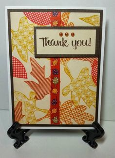 Fall themed Thank You note www.facebook.com/KatherinesHandmadeCreations