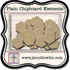 Hexagon Naked Chipboard Pieces by Jenni Bowlin - Two Peas in a Bucket
