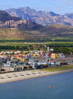 A great picture of the town of Loreto Mexico! Make sure to stay at Villa del Palmar!