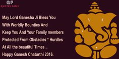 Ganesh Chaturthi 2016 wishes greetings