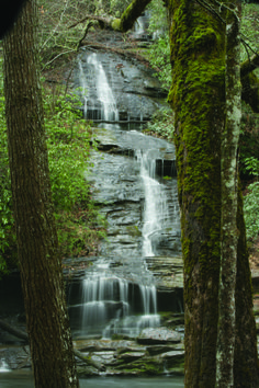 Deep Creek offers a 'perfect three' waterfalls. And you can visit them all within an hour's walk from the trailhead parking lot at the Deep Creek Recreation Area. Because they're on the main trail, Tom Branch Falls (shown) and Indian Creek Falls are the most-visited. But if you take the short side trail to Juneywhank Falls, you'll be richly rewarded. Deep Creek is one of the most accessible areas of the Great Smoky Mountains National Park, just two miles north of Bryson City, NC.