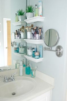 Floating Shelves for Small Bathroom Organization