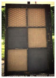 Upcycled Old Window - Chalkboard/Corkboard
