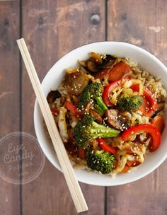 30 min Chinese vegetable stir-fry (vegan, soy-free option, gluten-free)