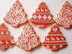 Pretty Xmas tree cookies