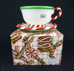 Dept 56 Peppermint Swirl Jumbo Cup & Saucer - Beautiful holiday gift - perfect to fill with #Christmas candies or use as a festive dip dish! http://www.ebay.com/itm/Dept-56-Peppermint-Jumbo-Cup-And-Saucer-Set-Christmas-Holiday-Ceramic-Gift-/361089906868?pt=LH_DefaultDomain_0&hash=item5412a2b8b4 #GreatSkyGifts #Ceramic #HandPainted #Mug