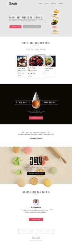 Unique Web Design, Comida #WebDesign #Design (http://www.pinterest.com/aldenchong/)