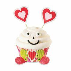 Earthly Valentine Greetings Cupcake