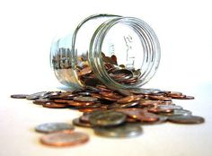 Do you have a lot of change floating around the floor of your car or purse? Collect it and keep a jar handy to save all of your loose coins. Lots of banks offer a coin counter or coin sorter service for you to turn that change into bills.