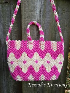 Macrame bag Macrame purse Macrame shoulder purse Macrame