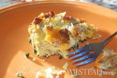 Breakfast casserole. Grain free, gluten free, GAPS legal. From The Well Fed Homestead.