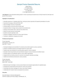 sample product specialist resume - Online Advertising Specialist