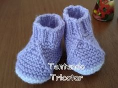 Tentando Tricotar Knit Baby Booties, Knit Boots, Baby Slippers, Baby Knitting, Crochet, Baby Kids, Baby Shoes, Socks, Booty
