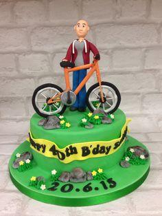Mountain bike cake, bicycle cake,