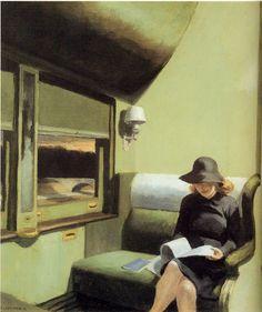 """Compartment C, Car 193"", 1938 / Edward Hopper (1882-1967) / IBM Corporate Collection"