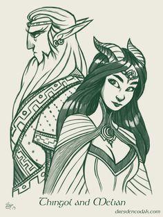 Aaron Diaz' Silmarillion: Thingol and Melian