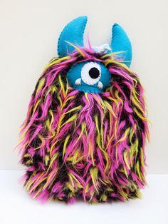 Jack Handmade furry plush monster doll by dkoss2 on Etsy