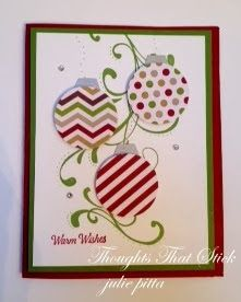 Thoughts That Stick..... : Christmas ornament card