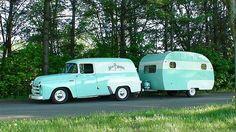 #truck & #camper. #vintage