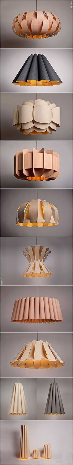 Beautiful DIY Wood Lamps And Chandeliers That Will Light Up Your Home Light is utterly important when it comes to interior design. The ambiance created by lighting effects changes the appearance of a room and the way it is perceived by us, as well enha Diy Luz, Ideias Diy, Wood Lamps, Ceiling Lamps, Lampshades, Paper Lampshade, Home Lighting, Lighting Ideas, Lamp Light