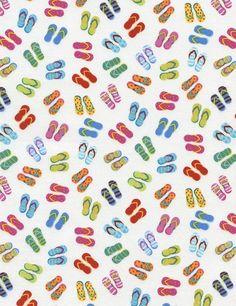 Flip Flops - Our Fabrics   TIMELESS TREASURES