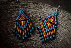 Native American Earrings small earrings Dangle by UniqueLook4U