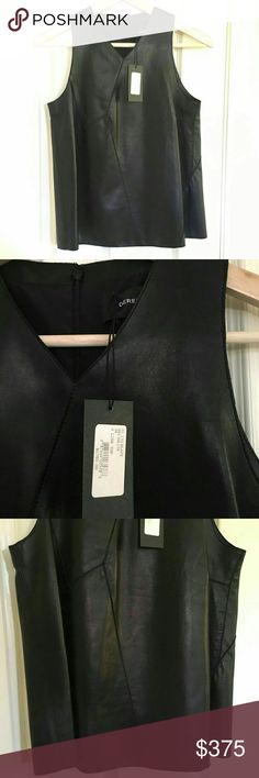 $1750 Derek Lam Leather Vest Sz 36 US 0 Soft leather. Retails for $1750. Accepting all reasonable offers! Will move soon! Derek Lam Tops