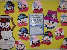 Chalk Talk: A Kindergarten Blog: snowman glyph