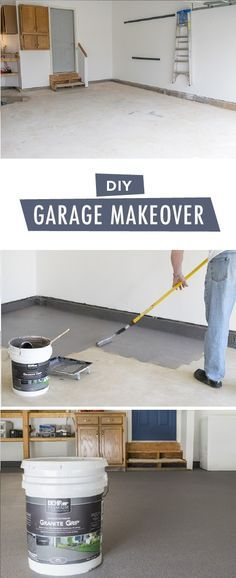 This year, why not paint your garage floor to create a durable, long-lasting finish for your annual spring cleaning. This DIY garage makeover from is a great way to bring organization and order into your home. Diy Garage Storage, Garage Organization, Storage Ideas, Organization Ideas, Storage Solutions, Garage Shelving, Workshop Organization, Organized Garage, Shop Storage