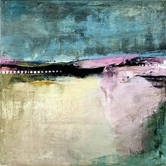 Pink Horizon  2011  acrylic on canvas  24 x 24 inches  $900