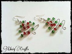 Christmas earrings christmas jewelry silver earrings by UniqCrafts, $15.00