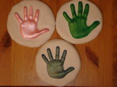 Plaster handprint mold project for kids