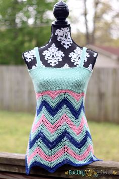 Free crochet tank pattern in women's sizes up to 3xl