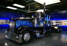 KW from Trick my Truck Show Trucks, Big Rig Trucks, Motorcycle Camping, Camping Car, Custom Big Rigs, Custom Trucks, Auto Body Repair Shops, Truck Paint, Peterbilt Trucks