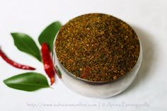 Regularly eat Karivepaku Podi, a nutritious curry leaves powder from Andhra Pradesh, and notice the difference. Podi Recipe, Andhra Recipes, Coriander Seeds, Curry Leaves, Tamarind, Chutney, Vegetarian Recipes, Spicy, Easy Meals