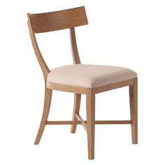 Arteriors Caden Natural Limed Oak Veneer/Linen Chair @Zinc_Door $720