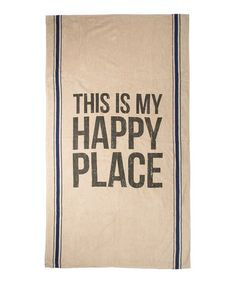 Love this 'Happy Place' Beach Towel on #zulily! #zulilyfinds