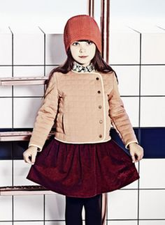 Carrement Beau Girls Quilter Cardigan in Primerose - Y15000 - 46A - PRE-ORDER