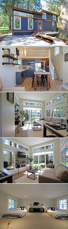 Container House - The Salish: a 399 sq ft luxury tiny house at the Wildwood Cottage Resort Who Else Wants Simple Step-By-Step Plans To Design And Build A Container Home From Scratch? Future House, Tiny House Movement, Interior Design Minimalist, Modern Design, Building A Container Home, Container Homes, Container Design, Container Cabin, Cargo Container