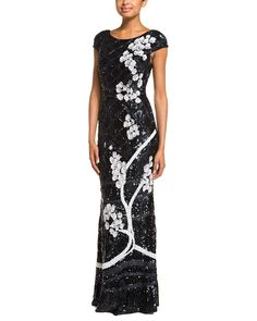 Spotted this Theia Midnight Floral Sequin Gown on Rue La La. Shop (quickly!).