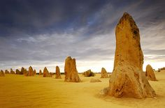 Pinnacles Desert in Nambung National Park in western Australia.