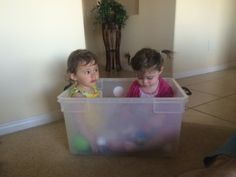 Today's Hint: Another Use for Big Plastic Storage Bins (Think Playtime)