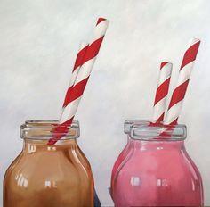 Chocolate o Fresa - óleo sobre tela - artista: Rosemary Norte
